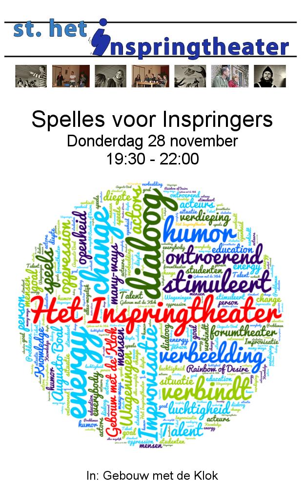 Sjabloon Flyer Inspringtheater Spellessen